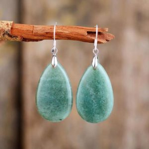 Natural Aventurine Stone Drop Earring-Gemstone Dangle Earring-Grounding Emotional Healing Balance Earrings-Stress Relief Courage Earrings | Natural genuine Aventurine earrings. Buy crystal jewelry, handmade handcrafted artisan jewelry for women.  Unique handmade gift ideas. #jewelry #beadedearrings #beadedjewelry #gift #shopping #handmadejewelry #fashion #style #product #earrings #affiliate #ad