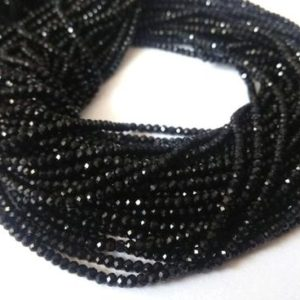 Shop Black Tourmaline Rondelle Beads! Black Tourmaline Beads, Black Tourmaline Gemstone, 3-4mm Tourmaline Rondelle Faceted Loose Beads, Jewelry Making Beads 12.5 inch 5-10 Strand | Natural genuine rondelle Black Tourmaline beads for beading and jewelry making.  #jewelry #beads #beadedjewelry #diyjewelry #jewelrymaking #beadstore #beading #affiliate #ad