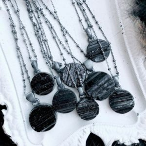 Shop Black Tourmaline Necklaces! Black tourmaline necklace, moon necklace   Natural genuine Black Tourmaline necklaces. Buy crystal jewelry, handmade handcrafted artisan jewelry for women.  Unique handmade gift ideas. #jewelry #beadednecklaces #beadedjewelry #gift #shopping #handmadejewelry #fashion #style #product #necklaces #affiliate #ad