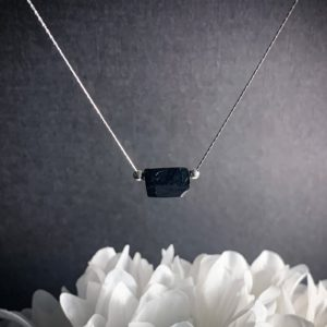 Shop Black Tourmaline Necklaces! Black Tourmaline Necklace Raw Crystal Nugget Raw Tourmaline Silver Chain Choker Gemstone Necklace Gift for Her   Natural genuine Black Tourmaline necklaces. Buy crystal jewelry, handmade handcrafted artisan jewelry for women.  Unique handmade gift ideas. #jewelry #beadednecklaces #beadedjewelry #gift #shopping #handmadejewelry #fashion #style #product #necklaces #affiliate #ad