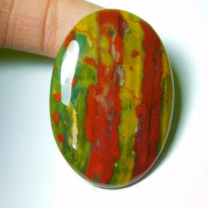 Shop Bloodstone Cabochons! Natural Bloodstone Cabochons,Bloodstone Gemstone,Bloodstone Loose Stone,Bloodstone Semi Precious,Bloodstone Jewelry Making 62Cts.45X31MM | Natural genuine stones & crystals in various shapes & sizes. Buy raw cut, tumbled, or polished gemstones for making jewelry or crystal healing energy vibration raising reiki stones. #crystals #gemstones #crystalhealing #crystalsandgemstones #energyhealing #affiliate #ad