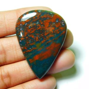 Shop Bloodstone Cabochons! Natural Bloodstone Cabochons,Bloodstone Gemstone,Bloodstone Loose Stone,Bloodstone Semi Precious,Bloodstone Jewelry Making 70Cts.46X34MM | Natural genuine stones & crystals in various shapes & sizes. Buy raw cut, tumbled, or polished gemstones for making jewelry or crystal healing energy vibration raising reiki stones. #crystals #gemstones #crystalhealing #crystalsandgemstones #energyhealing #affiliate #ad