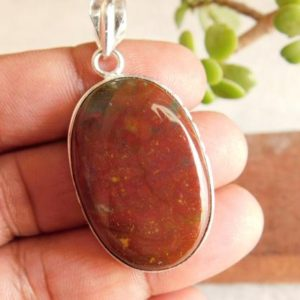 Shop Bloodstone Cabochons! Rare! Blood Stone gemstone pendant* blood stone cabochon pendant* positive energy* Reiki healing*Blood stone pendant* gift pendant* P529 | Natural genuine stones & crystals in various shapes & sizes. Buy raw cut, tumbled, or polished gemstones for making jewelry or crystal healing energy vibration raising reiki stones. #crystals #gemstones #crystalhealing #crystalsandgemstones #energyhealing #affiliate #ad