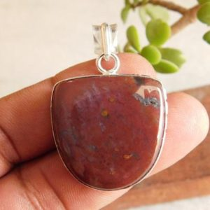 Shop Bloodstone Cabochons! Women's Bloodstone pendant*sterling silver pendant*blood cabochon pendant*Blood pendant*handmade jewelry*gift pendant*statement pendant*P532 | Natural genuine stones & crystals in various shapes & sizes. Buy raw cut, tumbled, or polished gemstones for making jewelry or crystal healing energy vibration raising reiki stones. #crystals #gemstones #crystalhealing #crystalsandgemstones #energyhealing #affiliate #ad