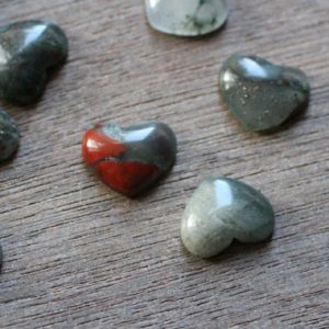 Shop Bloodstone Shapes! Set Of 10 African Bloodstone Small Heart Stone With Flat Back K338 | Natural genuine stones & crystals in various shapes & sizes. Buy raw cut, tumbled, or polished gemstones for making jewelry or crystal healing energy vibration raising reiki stones. #crystals #gemstones #crystalhealing #crystalsandgemstones #energyhealing #affiliate #ad