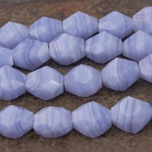 Shop Blue Lace Agate Chip & Nugget Beads! blue lace agate beads – faceted banded agate beads – 13x18mm gemstone nuggets – precious stone beads – jewelry making beads – 8 inch   Natural genuine chip Blue Lace Agate beads for beading and jewelry making.  #jewelry #beads #beadedjewelry #diyjewelry #jewelrymaking #beadstore #beading #affiliate #ad