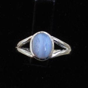 Shop Blue Lace Agate Rings! Blue Lace Agate Sterling Silver Rings, Gift For Her, Natural Blue Agate Gemstone, Anniversary Gift, Stack Rings, Midi Rings, Christmas Gifts   Natural genuine Blue Lace Agate rings, simple unique handcrafted gemstone rings. #rings #jewelry #shopping #gift #handmade #fashion #style #affiliate #ad