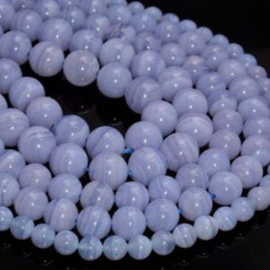 Chalcedony Blue Lace Agate Gemstone Grade AAA Round 4mm 6mm 8mm 10mm Loose Beads  (A271) | Natural genuine beads Array beads for beading and jewelry making.  #jewelry #beads #beadedjewelry #diyjewelry #jewelrymaking #beadstore #beading #affiliate #ad