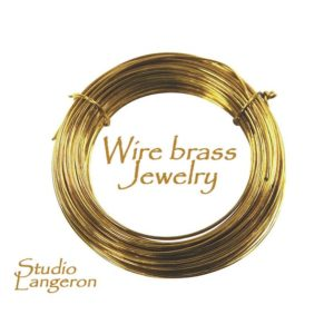 Shop Wire! Brass jewelry wire Half-Hard thickness 24, 22, 21, 20, 18, 16, 15, 12, 10 GA, Wire Wrapping, Jewelry making, Brass wire – 1 meter (3.30 ft) | Shop jewelry making and beading supplies, tools & findings for DIY jewelry making and crafts. #jewelrymaking #diyjewelry #jewelrycrafts #jewelrysupplies #beading #affiliate #ad