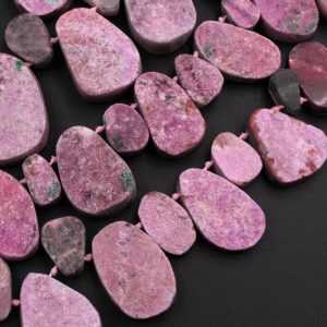 """Shop Calcite Pendants! Natural Pink Cobalto Calcite Drusy Teardrop Focal Pendant Beads 15.5"""" Strand   Natural genuine Calcite pendants. Buy crystal jewelry, handmade handcrafted artisan jewelry for women.  Unique handmade gift ideas. #jewelry #beadedpendants #beadedjewelry #gift #shopping #handmadejewelry #fashion #style #product #pendants #affiliate #ad"""