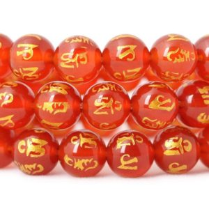 Shop Carnelian Round Beads! Red Carnelian Stone Beads, Natural Gemstone Beads, Round Carved Beads 6mm 8mm 10mm 12mm | Natural genuine round Carnelian beads for beading and jewelry making.  #jewelry #beads #beadedjewelry #diyjewelry #jewelrymaking #beadstore #beading #affiliate #ad