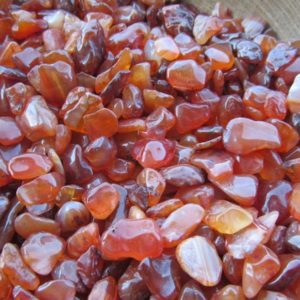 Shop Tumbled Carnelian Crystals & Pocket Stones! Mini Carnelian Chip Tumbled Stone Small Bag T46 | Natural genuine stones & crystals in various shapes & sizes. Buy raw cut, tumbled, or polished gemstones for making jewelry or crystal healing energy vibration raising reiki stones. #crystals #gemstones #crystalhealing #crystalsandgemstones #energyhealing #affiliate #ad