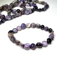 Charoite Tumbled Bracelet | Natural genuine Gemstone jewelry. Buy crystal jewelry, handmade handcrafted artisan jewelry for women.  Unique handmade gift ideas. #jewelry #beadedjewelry #beadedjewelry #gift #shopping #handmadejewelry #fashion #style #product #jewelry #affiliate #ad