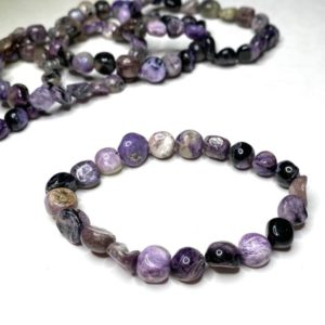 Shop Charoite Bracelets! Charoite Tumbled Bracelet | Natural genuine Charoite bracelets. Buy crystal jewelry, handmade handcrafted artisan jewelry for women.  Unique handmade gift ideas. #jewelry #beadedbracelets #beadedjewelry #gift #shopping #handmadejewelry #fashion #style #product #bracelets #affiliate #ad