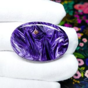 Shop Charoite Stones & Crystals! Aaa Grade Charoite Cabochon – Russian Purple Charoite Gemstone – Georgiostones | Natural genuine stones & crystals in various shapes & sizes. Buy raw cut, tumbled, or polished gemstones for making jewelry or crystal healing energy vibration raising reiki stones. #crystals #gemstones #crystalhealing #crystalsandgemstones #energyhealing #affiliate #ad