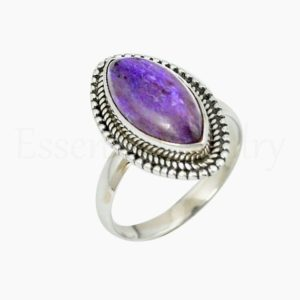 Shop Charoite Rings! Purple Charoite Ring, Women's Jewelry, 925 Sterling Silver, Marquise Gemstone, Statement Ring, Simple Band Ring, Cabochon Stone, Sale Ring   Natural genuine Charoite rings, simple unique handcrafted gemstone rings. #rings #jewelry #shopping #gift #handmade #fashion #style #affiliate #ad