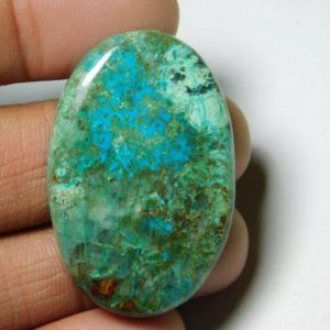 Shop Chrysocolla Cabochons! Natural Chrysocolla Cabochons,Chrysocolla Gemstone,Chrysocolla LooseStone,Chrysocolla Semi Precious,Chrysocolla jewelry Making 59Cts.40X26MM   Natural genuine stones & crystals in various shapes & sizes. Buy raw cut, tumbled, or polished gemstones for making jewelry or crystal healing energy vibration raising reiki stones. #crystals #gemstones #crystalhealing #crystalsandgemstones #energyhealing #affiliate #ad
