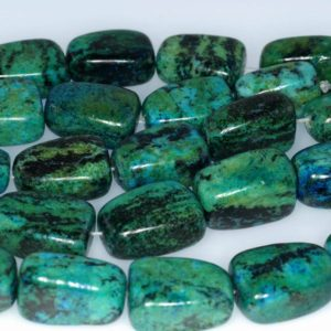 Shop Chrysocolla Chip & Nugget Beads! 20x14MM  Chrysocolla Quantum Quattro Gemstone Nugget Loose Beads 7 inch Half Strand (90182648-A139) | Natural genuine chip Chrysocolla beads for beading and jewelry making.  #jewelry #beads #beadedjewelry #diyjewelry #jewelrymaking #beadstore #beading #affiliate #ad