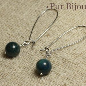 Shop Chrysocolla Earrings! Earrings – Chrysocolla 10mm   Natural genuine Chrysocolla earrings. Buy crystal jewelry, handmade handcrafted artisan jewelry for women.  Unique handmade gift ideas. #jewelry #beadedearrings #beadedjewelry #gift #shopping #handmadejewelry #fashion #style #product #earrings #affiliate #ad