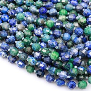 """Shop Chrysocolla Faceted Beads! Chrysocolla 10mm Beads Faceted Energy Prism Double Terminated Point Cut 15.5"""" Strand   Natural genuine faceted Chrysocolla beads for beading and jewelry making.  #jewelry #beads #beadedjewelry #diyjewelry #jewelrymaking #beadstore #beading #affiliate #ad"""