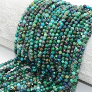 Shop Chrysocolla Faceted Beads! Chrysocolla Faceted Beads, Natural Gemstone Beads, Round Stone Beads 2mm 3mm 4mm 15''   Natural genuine faceted Chrysocolla beads for beading and jewelry making.  #jewelry #beads #beadedjewelry #diyjewelry #jewelrymaking #beadstore #beading #affiliate #ad