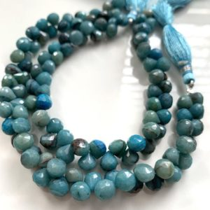 Shop Chrysocolla Faceted Beads! Chrysocolla faceted onions   Natural genuine faceted Chrysocolla beads for beading and jewelry making.  #jewelry #beads #beadedjewelry #diyjewelry #jewelrymaking #beadstore #beading #affiliate #ad