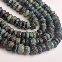 6-7mm Chrysocolla Faceted Rondelle Beads, Faceted Chrysocolla Beads, Chrysocolla For Necklace (5in To 10in Options) – Pdg183 | Natural genuine Gemstone jewelry. Buy crystal jewelry, handmade handcrafted artisan jewelry for women.  Unique handmade gift ideas. #jewelry #beadedjewelry #beadedjewelry #gift #shopping #handmadejewelry #fashion #style #product #jewelry #affiliate #ad
