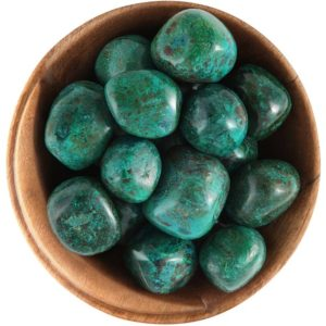 Shop Tumbled Chrysocolla Crystals & Pocket Stones! 1 Green Chrysocolla – Ethically Sourced Tumbled Stone   Natural genuine stones & crystals in various shapes & sizes. Buy raw cut, tumbled, or polished gemstones for making jewelry or crystal healing energy vibration raising reiki stones. #crystals #gemstones #crystalhealing #crystalsandgemstones #energyhealing #affiliate #ad