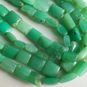 Shop Chrysoprase Necklaces! 7-14mm Chrysoprase Chewing Gum Cut Beads, Green Chrysoprase Beads, Chrysoprase Necklace, Chrysophase Chicklet Beads, 9 Inch   Natural genuine Chrysoprase necklaces. Buy crystal jewelry, handmade handcrafted artisan jewelry for women.  Unique handmade gift ideas. #jewelry #beadednecklaces #beadedjewelry #gift #shopping #handmadejewelry #fashion #style #product #necklaces #affiliate #ad