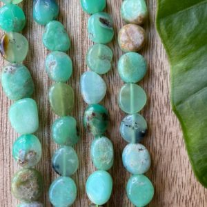 Shop Chrysoprase Bead Shapes! Chrysoprase bead strand, chrysophrase beads | Natural genuine other-shape Chrysoprase beads for beading and jewelry making.  #jewelry #beads #beadedjewelry #diyjewelry #jewelrymaking #beadstore #beading #affiliate #ad