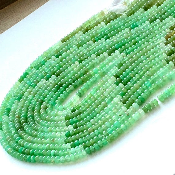 Shaded Chrysoprase Smooth Polished Rondelles
