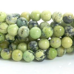 lemon chrysoprase beads – australian chrysoprase – Australian jade beads – yellow green stone beads – smooth round beads -size 4-14mm-15inch | Natural genuine round Gemstone beads for beading and jewelry making.  #jewelry #beads #beadedjewelry #diyjewelry #jewelrymaking #beadstore #beading #affiliate #ad