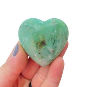 Shop Chrysoprase Stones & Crystals! Chrysoprase Stone Heart – Chrysoprase Heart – Chrysoprase Crystal Heart – Chrysoprase Polished Heart – Green Stone – Heart Chakra Crystal | Natural genuine stones & crystals in various shapes & sizes. Buy raw cut, tumbled, or polished gemstones for making jewelry or crystal healing energy vibration raising reiki stones. #crystals #gemstones #crystalhealing #crystalsandgemstones #energyhealing #affiliate #ad