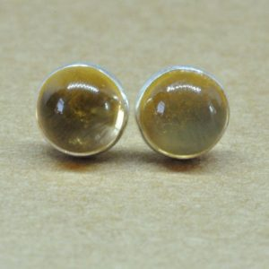 Citrine Earrings, Sterling Silver Citrine jewelry Studs. 6mm November birthstone | Natural genuine Citrine earrings. Buy crystal jewelry, handmade handcrafted artisan jewelry for women.  Unique handmade gift ideas. #jewelry #beadedearrings #beadedjewelry #gift #shopping #handmadejewelry #fashion #style #product #earrings #affiliate #ad