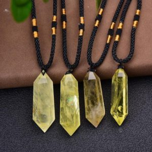 Citrine Pendant Necklace-Natural Crystal Healing Balancing Necklace-Meditation Grounding Calming Spiritual Protection Necklace Gift | Natural genuine Gemstone pendants. Buy crystal jewelry, handmade handcrafted artisan jewelry for women.  Unique handmade gift ideas. #jewelry #beadedpendants #beadedjewelry #gift #shopping #handmadejewelry #fashion #style #product #pendants #affiliate #ad