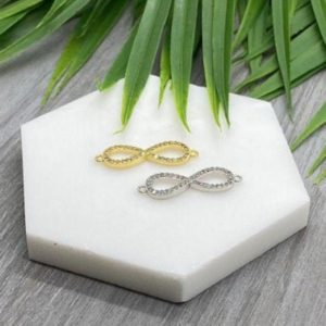 Shop Jewelry Connectors! CZ Micro Pave Infinity Beading Connector Charm   Infinity Charm   Beading Connector   Bestselling DIY Jewelry and Beading Supplies   Shop jewelry making and beading supplies, tools & findings for DIY jewelry making and crafts. #jewelrymaking #diyjewelry #jewelrycrafts #jewelrysupplies #beading #affiliate #ad