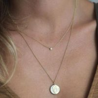 Delicate Solitaire Diamond Necklace, Simple Everyday Rose Gold Jewelry, Dainty Wedding Yellow Gold Necklace, Solid Gold Bridal Necklace | Natural genuine Gemstone jewelry. Buy handcrafted artisan wedding jewelry.  Unique handmade bridal jewelry gift ideas. #jewelry #beadedjewelry #gift #crystaljewelry #shopping #handmadejewelry #wedding #bridal #jewelry #affiliate #ad