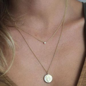 Shop Diamond Necklaces! Delicate Solitaire Diamond Necklace, simple Everyday Rose Gold Jewelry, Dainty Wedding Yellow Gold Necklace, Solid Gold Bridal Necklace   Natural genuine Diamond necklaces. Buy handcrafted artisan wedding jewelry.  Unique handmade bridal jewelry gift ideas. #jewelry #beadednecklaces #gift #crystaljewelry #shopping #handmadejewelry #wedding #bridal #necklaces #affiliate #ad