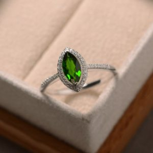 Shop Diopside Rings! Diopside ring, green gemstone, silver, chrome diopside ring   Natural genuine Diopside rings, simple unique handcrafted gemstone rings. #rings #jewelry #shopping #gift #handmade #fashion #style #affiliate #ad