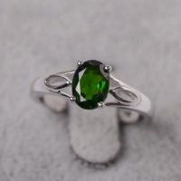 Diopside Ring Sterling Silver Oval Cut Ring For Her Natural Gemstone Ring | Natural genuine Gemstone jewelry. Buy crystal jewelry, handmade handcrafted artisan jewelry for women.  Unique handmade gift ideas. #jewelry #beadedjewelry #beadedjewelry #gift #shopping #handmadejewelry #fashion #style #product #jewelry #affiliate #ad