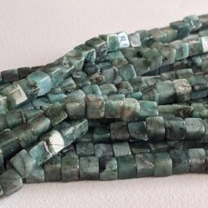 Shop Emerald Bead Shapes! 5-6mm Emerald Plain Box Beads, Natural Emerald Cube Beads, Emerald Square Box Beads For Jewelry (8in To 16in Options) – Aag95 | Natural genuine other-shape Emerald beads for beading and jewelry making.  #jewelry #beads #beadedjewelry #diyjewelry #jewelrymaking #beadstore #beading #affiliate #ad