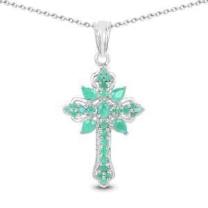 Shop Emerald Pendants! Emerald Pendant, Genuine Emerald Marquise Cross Pendant in .925 Sterling Silver with 14K Yellow Gold Plating, Gift for Mom, Gift for Her   Natural genuine Emerald pendants. Buy crystal jewelry, handmade handcrafted artisan jewelry for women.  Unique handmade gift ideas. #jewelry #beadedpendants #beadedjewelry #gift #shopping #handmadejewelry #fashion #style #product #pendants #affiliate #ad