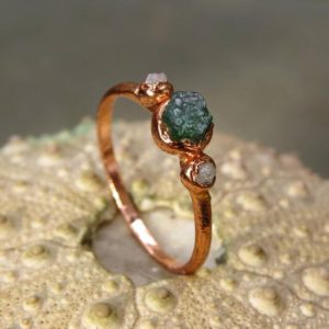 Emerald engagement ring alternative engagement may birthday ring may birthstone ring wedding stackable ring minimalist promise ring | Natural genuine Array rings, simple unique alternative gemstone engagement rings. #rings #jewelry #bridal #wedding #jewelryaccessories #engagementrings #weddingideas #affiliate #ad