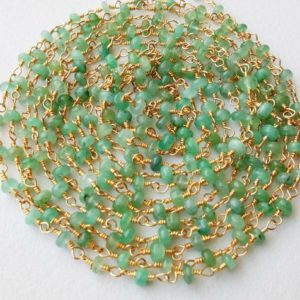 Shop Emerald Rondelle Beads! 3-3.5mm Emerald Plain Rondelle Rosary Chain In 925 Silver Gold Polished Wire Wrapped, Rosary Chain Emerald Beaded Chain ( 1ft To 5ft Option)   Natural genuine rondelle Emerald beads for beading and jewelry making.  #jewelry #beads #beadedjewelry #diyjewelry #jewelrymaking #beadstore #beading #affiliate #ad