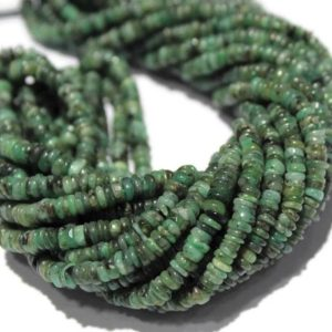 """Shop Emerald Rondelle Beads! Emerald Gemstone Heishi Spacer Tyre Rondelle Beads, Natural Emerald Smooth Heishi Beads, Emerals Heishi Beads Size 4mm-5mm 16"""" Inches Strsnd   Natural genuine rondelle Emerald beads for beading and jewelry making.  #jewelry #beads #beadedjewelry #diyjewelry #jewelrymaking #beadstore #beading #affiliate #ad"""