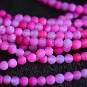 fuchsia fire agate beads – fuchsia statement beads – red colored gemstones – deep pink stone beads – round beads -size 6-14mm -15inch | Natural genuine round Gemstone beads for beading and jewelry making.  #jewelry #beads #beadedjewelry #diyjewelry #jewelrymaking #beadstore #beading #affiliate #ad