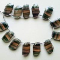 12x20mm Multi Fluorite Faceted Fancy Shape Bead, Natural Multi Fluorite Faceted Beads, Fluorite For Necklace (6pcs To 12pcs Option) – Psg121 | Natural genuine Gemstone jewelry. Buy crystal jewelry, handmade handcrafted artisan jewelry for women.  Unique handmade gift ideas. #jewelry #beadedjewelry #beadedjewelry #gift #shopping #handmadejewelry #fashion #style #product #jewelry #affiliate #ad
