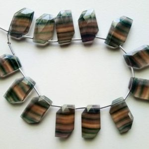 Shop Fluorite Necklaces! 12x20mm Multi Fluorite Faceted Fancy Shape Bead, Natural Multi Fluorite Faceted Beads, Fluorite For Necklace (6Pcs To 12Pcs Option) – PSG121 | Natural genuine Fluorite necklaces. Buy crystal jewelry, handmade handcrafted artisan jewelry for women.  Unique handmade gift ideas. #jewelry #beadednecklaces #beadedjewelry #gift #shopping #handmadejewelry #fashion #style #product #necklaces #affiliate #ad