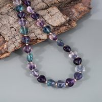 Natural Fluorite Beads, Fluorite Necklace Smooth Heart Shape Fluorite Beads May Birthstone Jewelry Beautiful Fluorite Gemstone Gift For Her | Natural genuine Gemstone jewelry. Buy crystal jewelry, handmade handcrafted artisan jewelry for women.  Unique handmade gift ideas. #jewelry #beadedjewelry #beadedjewelry #gift #shopping #handmadejewelry #fashion #style #product #jewelry #affiliate #ad