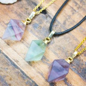 Green Fluorite Necklace Fluorite Pendant Chunky Natural Crystal Healing Birthday Unique Unusual Gift July Cancer Leo Zodiac | Natural genuine Gemstone pendants. Buy crystal jewelry, handmade handcrafted artisan jewelry for women.  Unique handmade gift ideas. #jewelry #beadedpendants #beadedjewelry #gift #shopping #handmadejewelry #fashion #style #product #pendants #affiliate #ad